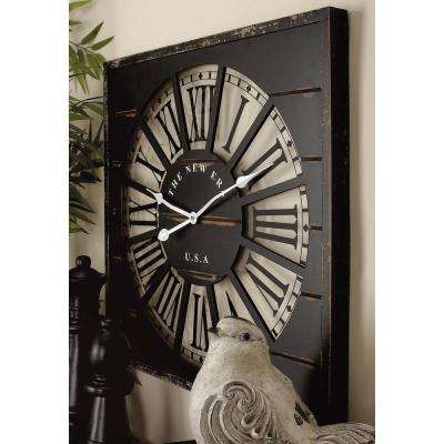 "27 in. x 27 in. ""The New Era USA"" Square Wall Clock"
