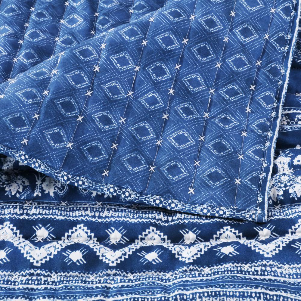 Embry Indigo Quilt Set, 3-Piece Full/Queen