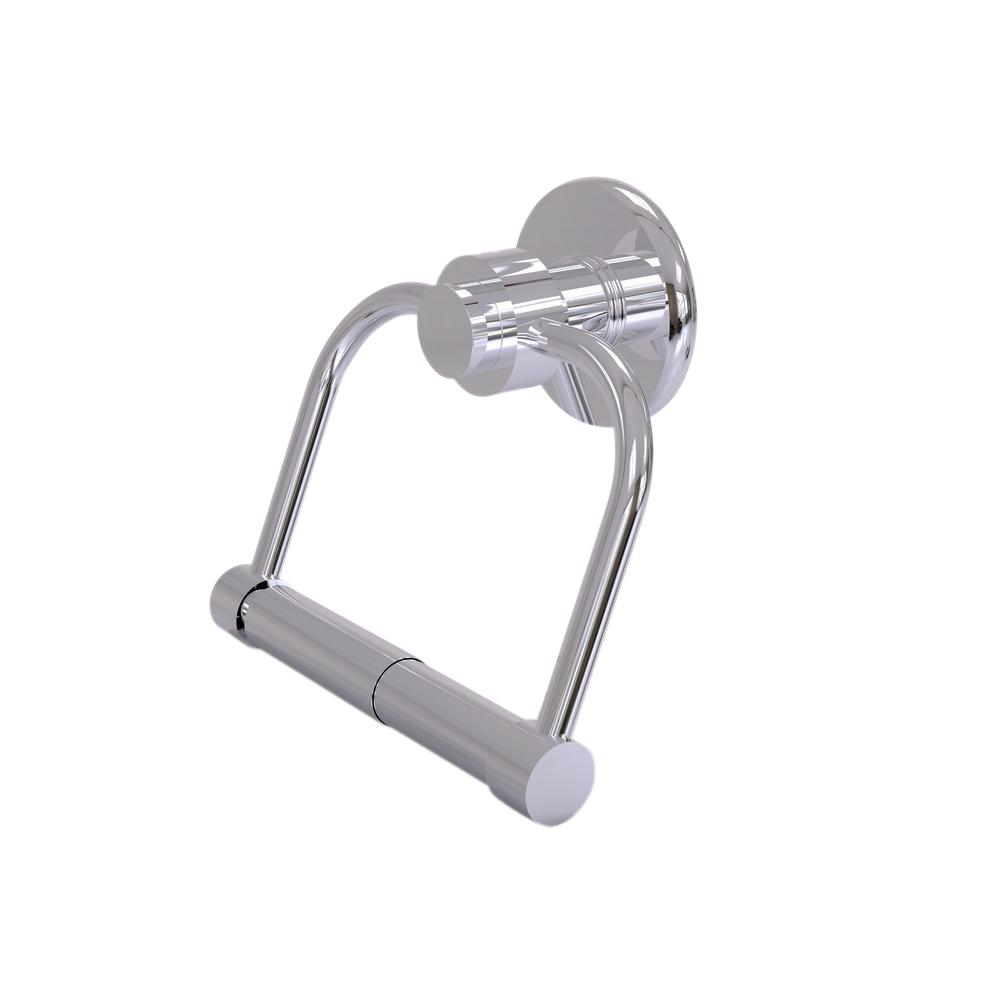 Allied Brass Mercury Collection Single Post Toilet Paper Holder in Polished Chrome