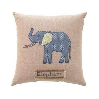 Elephant 18 in. Square Decorative Pillow