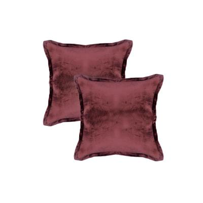 Marsala Solid Down 20 in. x 20 in. Throw Pillow (Set of 2)