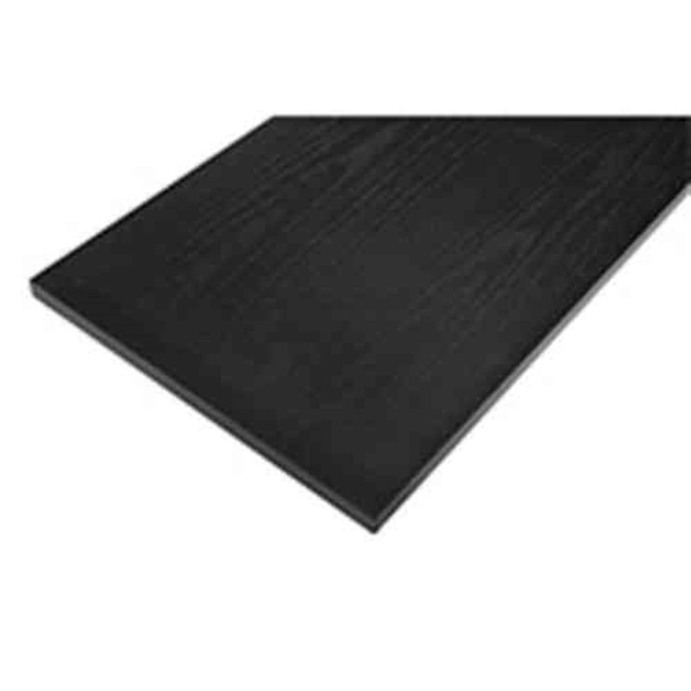 8 in. x 24 in. Black Laminated Wood Shelf