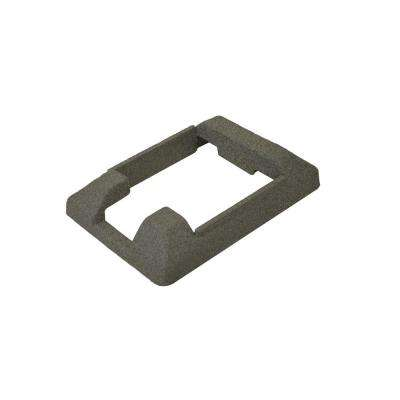 5 in. x 5 in. Composite Gray Fence End Post Concrete Bracket Skirt