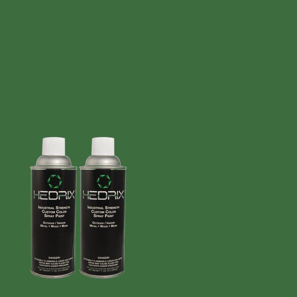 Hedrix 11 oz. Match of S-H-460 Chopped Chive Semi-Gloss Custom Spray Paint (2-Pack)