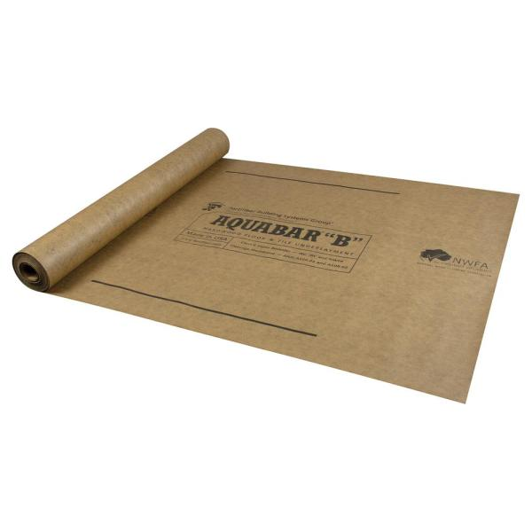 500 sq. ft. 36 in. Wide x 167 ft. Long x 7 mil Thick Aquabar ''B'' Tile Underlayment Roll