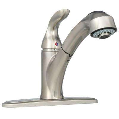 Tuscany Collection Single-Handle Pull-Out Sprayer Kitchen Faucet in Brushed Nickel