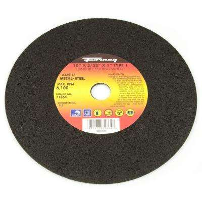 10 in. x 3/32 in. x 1 in. Metal Type 1 A36R-BF Chop Saw Blade