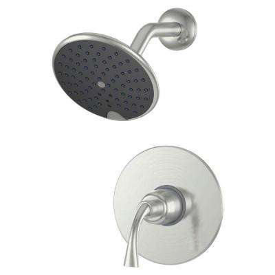 Twist Single-Handle Single Spray Shower Faucet in Brushed Nickel (Valve Included)