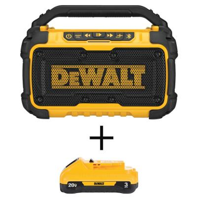20-Volt MAX Lithium-Ion Bluetooth Speaker with (1) 20-Volt Compact 3.0Ah Battery