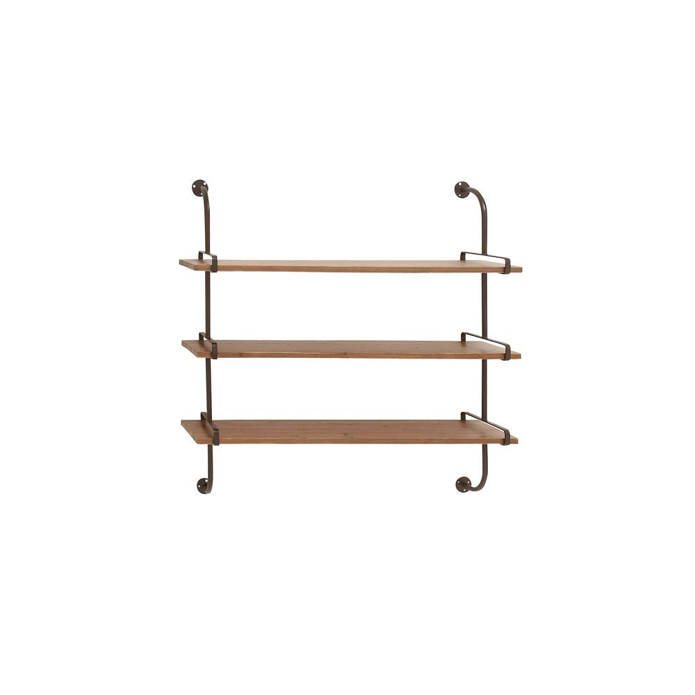 12 in. W x 36 in. H Firwood 3-Tiered Wall Shelf
