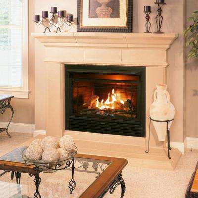 29 in. 26,000 BTU Ventless Dual Fuel Fireplace Insert with Thermostat Control