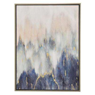 29.5 in. Painting with Frame in Oil on Canvas in Multi-Colored