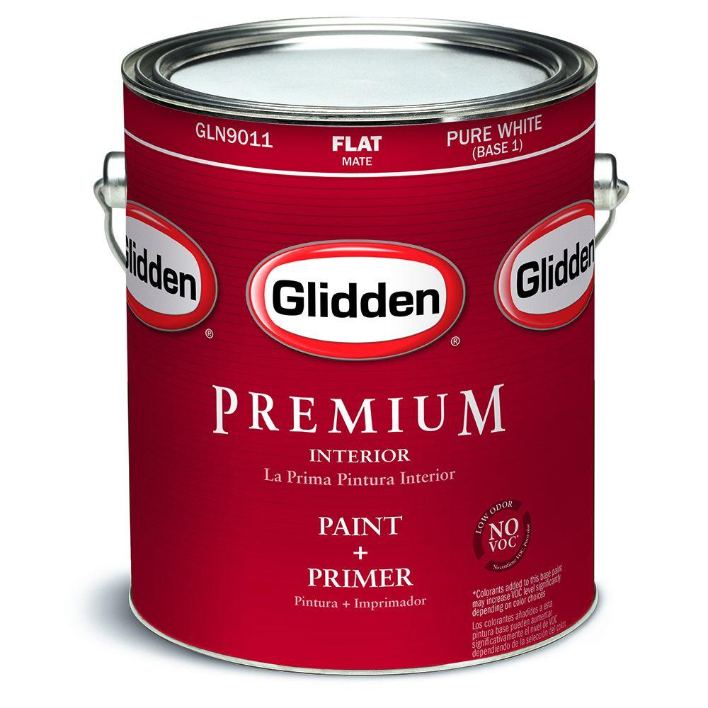 Glidden Premium 1 Gal Flat Interior Paint Gln9012 01 The Home Depot