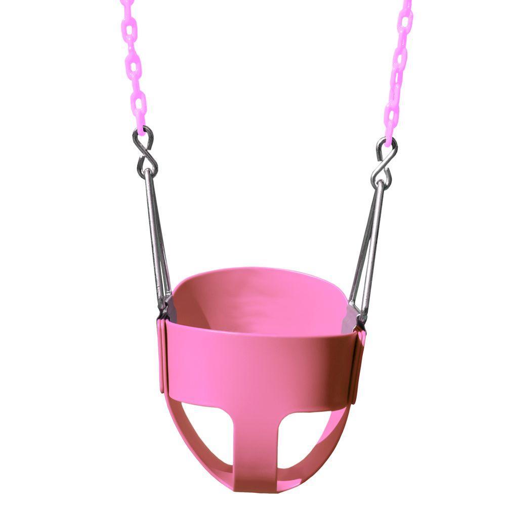 Pink Toddler Full Bucket Swing