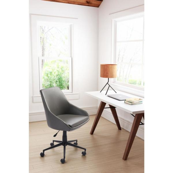 ZUO Powell Gray Office Chair