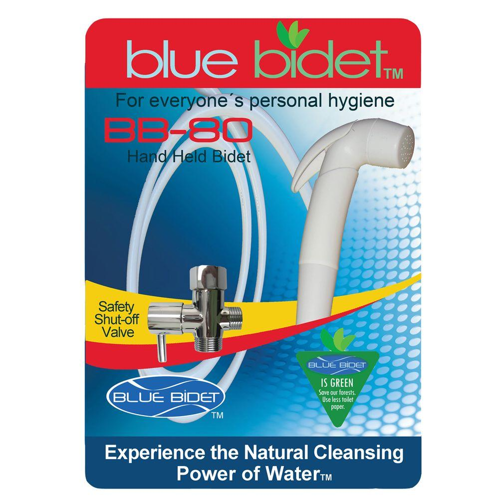 Blue Bidet Hand Held Bidet in White