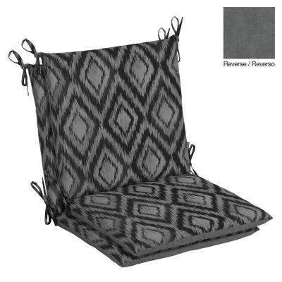 Jackson Ikat Diamond Outdoor Dining Chair Cushion (2-Pack)
