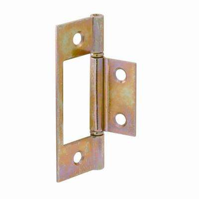 1 in. x 3 in. Brass Plated Bi-Fold Door Hinge