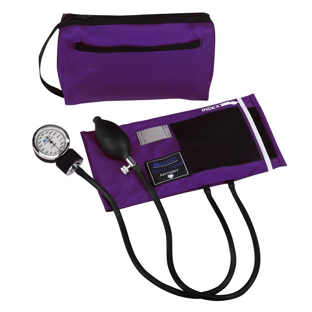 MatchMates Aneroid Sphygmomanometers Kit in Purple