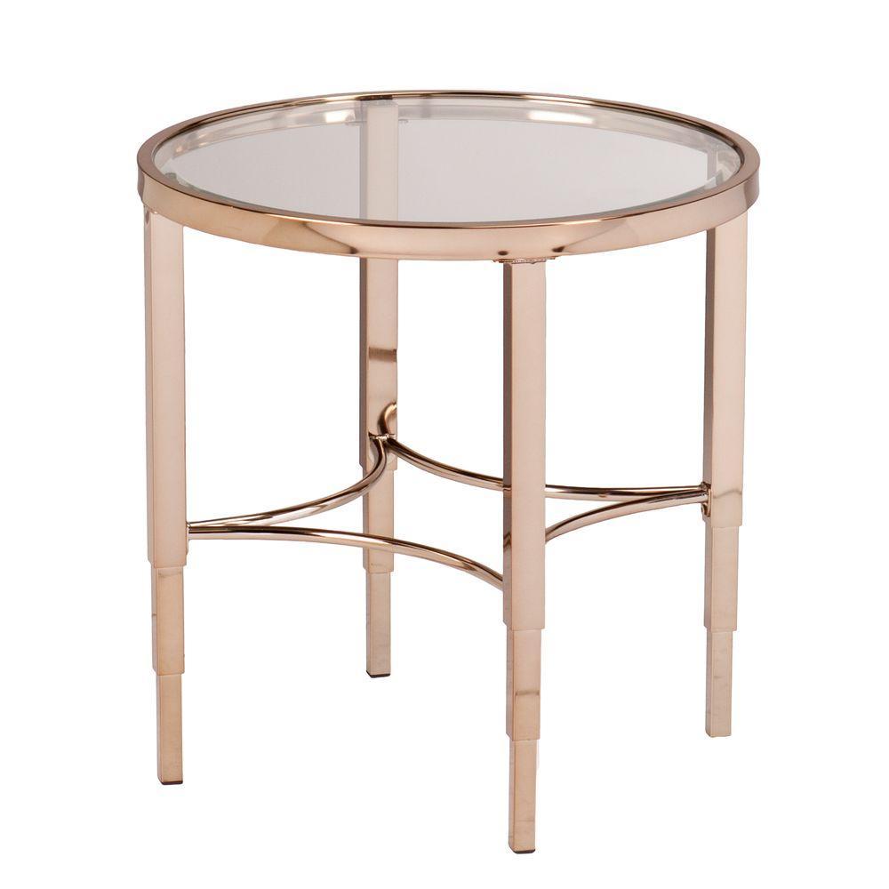 Bertha Metallic Gold End Table