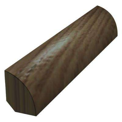 Chocolate Saddle 3/4 in. Thick x 3/4 in. Wide x 78 in. Length Quarter Round Molding