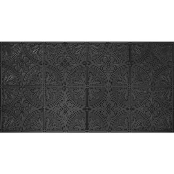Global Specialty Products Dimensions Faux 2 ft. x 4 ft. Black