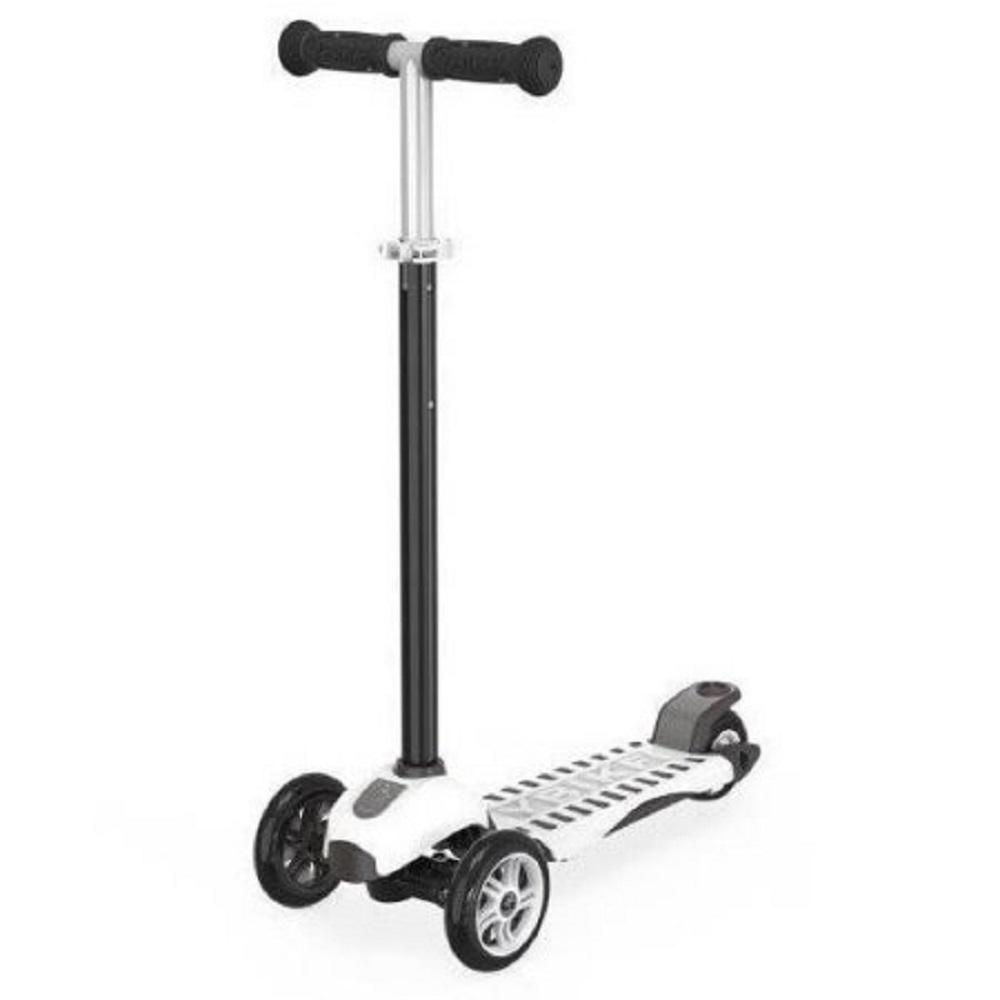 YBike Age 5 to 10, up to 110 lbs,3-Wheel Scooter, Black/W...