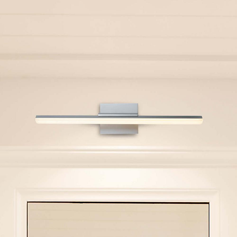 Procyon 16-Watt Silver Integrated LED Bath Light