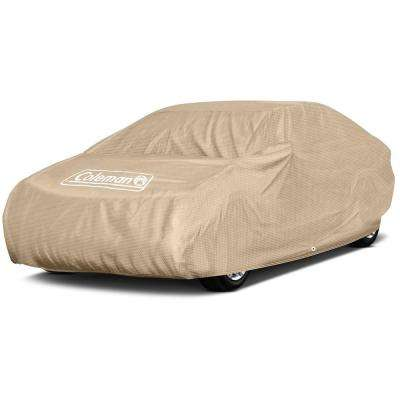 Spun-Bond PolyPro 5-Ply 135 GSM 160 in. x 65 in. x 46 in. Executive Beige Full Car Cover