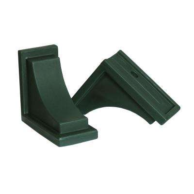 Green Polyethylene Nantucket Decorative Brackets (2-Pack)
