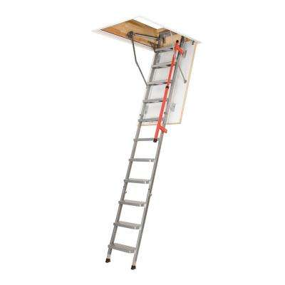 LML 9 ft. 2.75 in., 27.5 in. x 47 in. Insulated Steel Attic Ladder with 350 lbs. Maximum Load Capacity