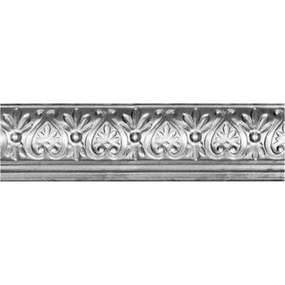 6-5/8 in. x 4 ft. x 6-1/4 in. Clear Lacquer Steel Nail-up/Direct Application Cornice (6-Pack)