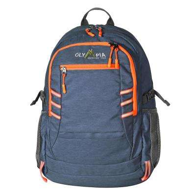 Woodsman 25L 19 in. Navy and Orange Outdoor Backpack with Laptop Compartment
