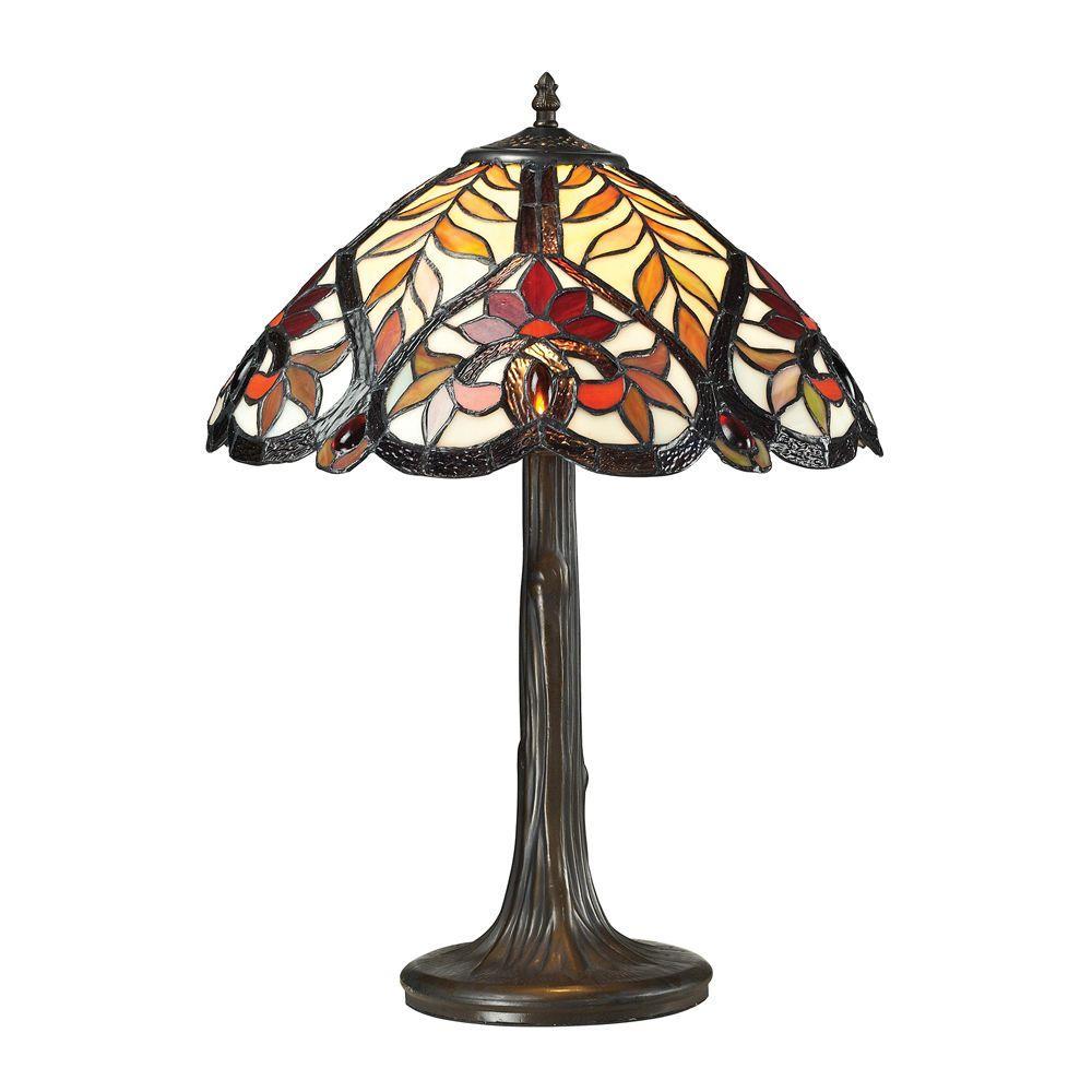 Madeleine Collection 22 in. Dark Bronze Table Lamp