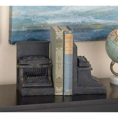 7 in. x 5 in. Polystone Typewriter Bookends