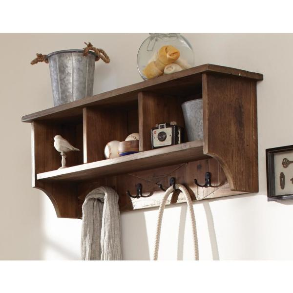 Alaterre Furniture Revive Rustic Natural Wall Mounted Coat Rack
