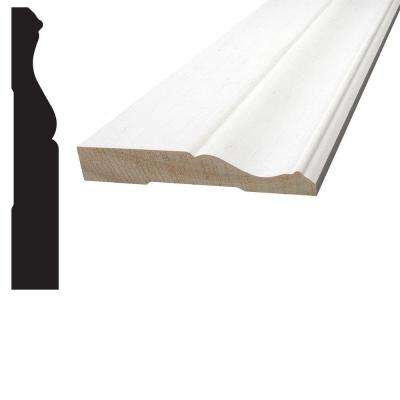 11/16 in. x 4-1/8 in. x 96 in. Primed Pine Finger-Jointed Base Moulding