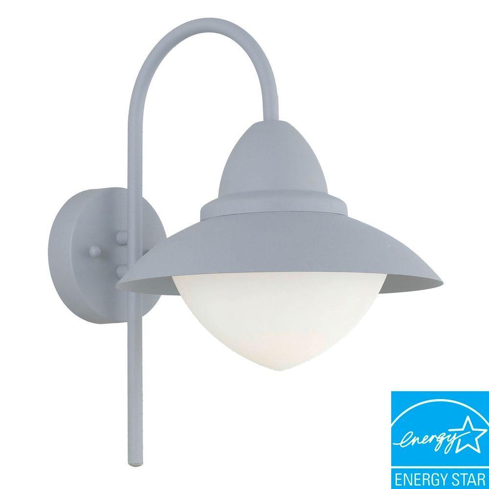 Eglo Sidney Silver Outdoor Wall-Mount Lamp