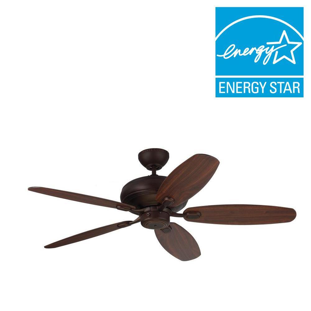 Centro Max 52 in. Roman Bronze Ceiling Fan