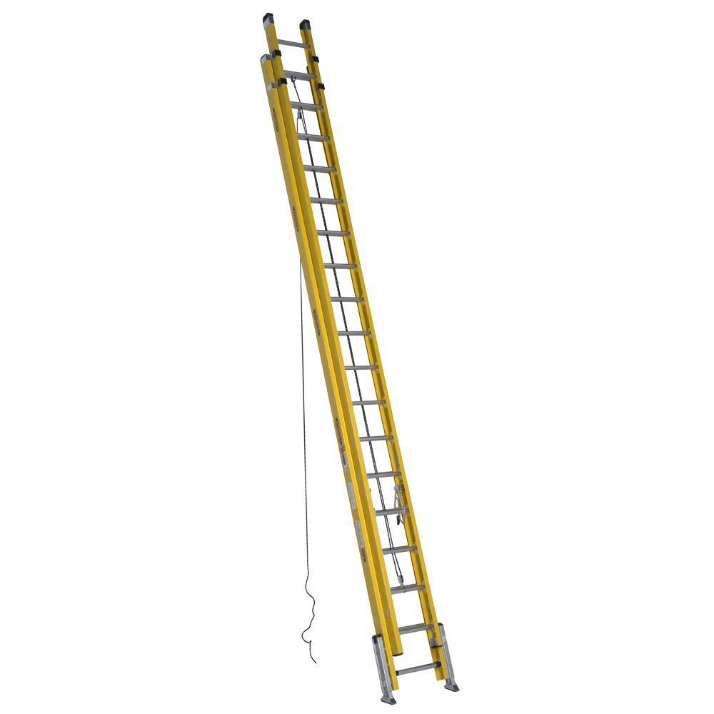 Werner 36 Ft Fiberglass D Rung Leveling Extension Ladder