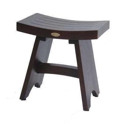 Serenity 18 in. Eastern Style Teak Shower Bench Stool