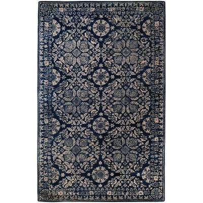 Amnon China Blue 9 ft. x 13 ft. Area Rug