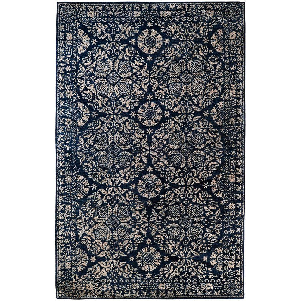 Surya Smithsonian China Blue 9 ft. x 13 ft. Area Rug