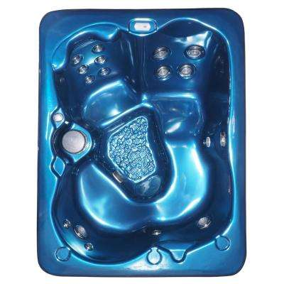 Laguna 3-4 Person 43-Jet Stainless Steel Jets Plug and Play Hot Tub with Starburst LED Light Waterfall and Hard Cover