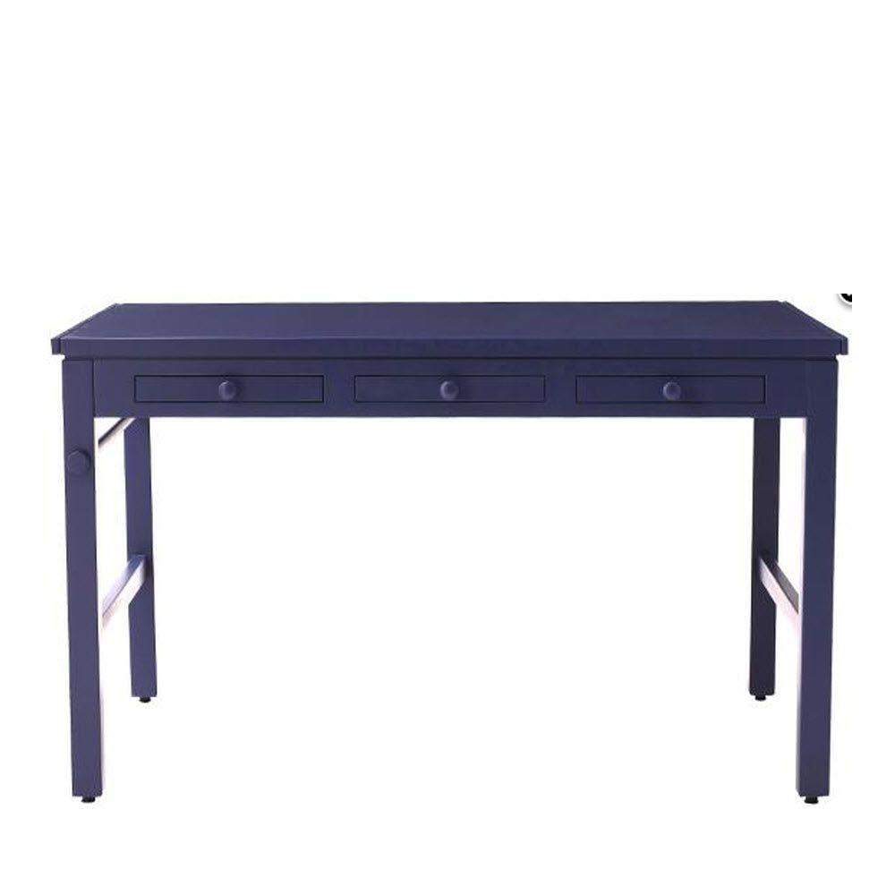 Martha Stewart Living Kids 43 in. W Azurite Craft Table with Paper Roll