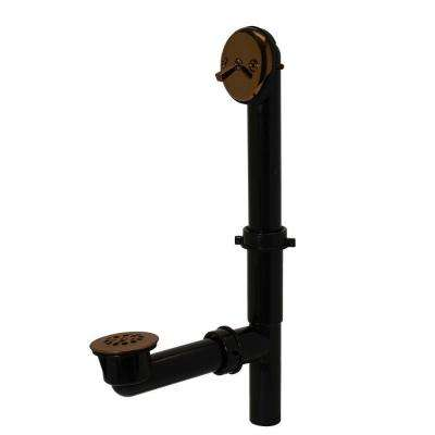 Trip Lever 1-1/2 in. Black Poly Pipe Bath Waste and Overflow Drain in Oil Rubbed Bronze