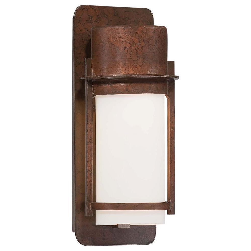 the great outdoors by Minka Lavery Artisan Lane 1-Light Architectural Bronze Outdoor Wall Mount Lantern