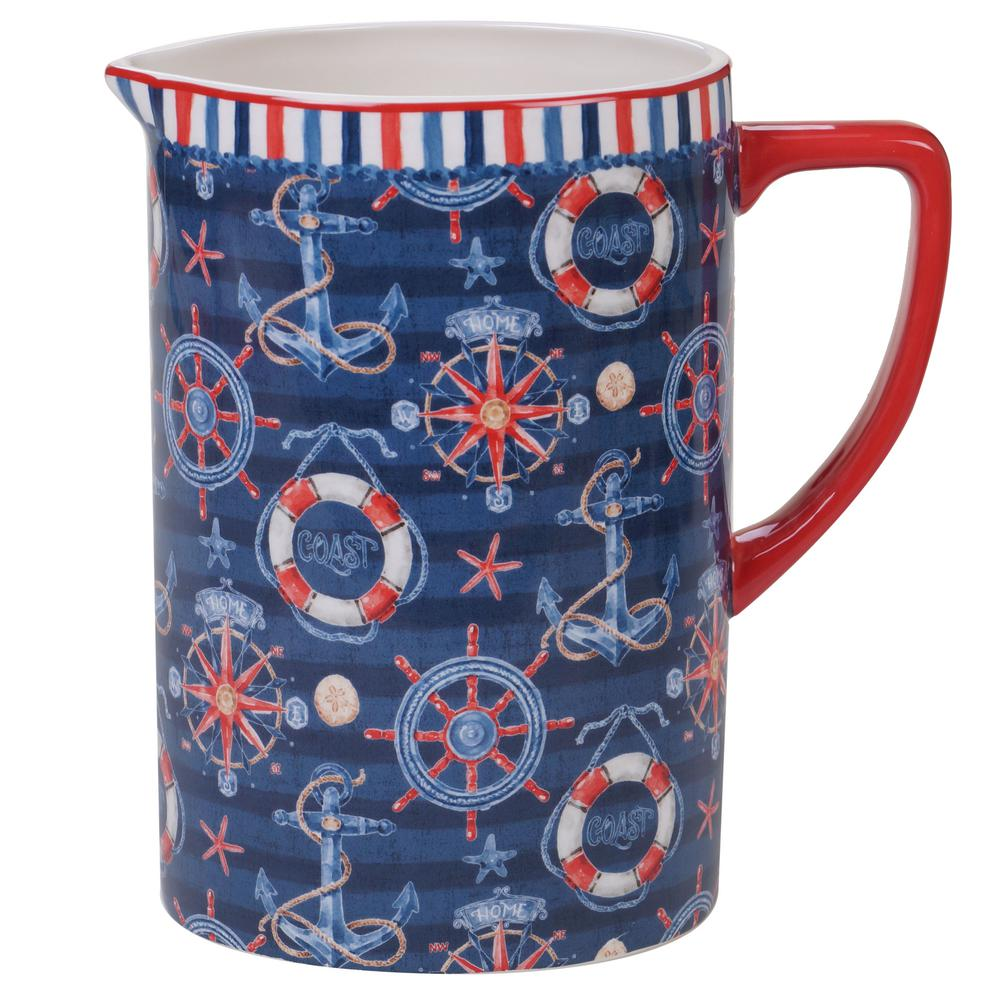 Nautical Life Multi-Colored 2.5 oz. Pitcher