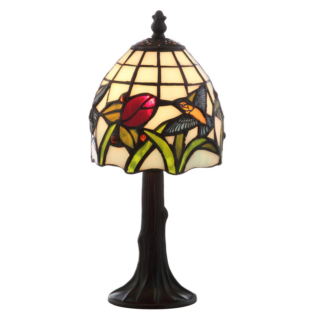 Jonathan Y Hummingbird Tiffany Style 12 In Bronze Table Lamp