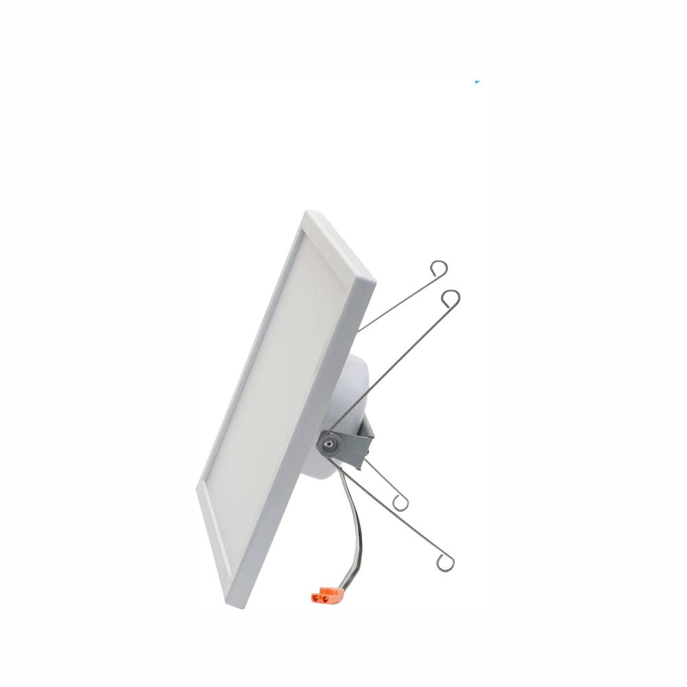Pixi Led Square 8 In By White Integrated Recessed Can Retrofit Kit